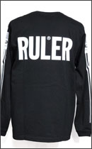 RULER - MARKER LINE LONG TEE -Black-