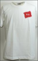 RAH - FLAG TEE S/S -White/Burgundy-