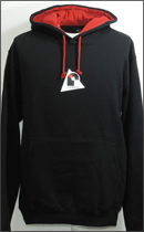 RAH - r.LEAGUE TWO‐TONE PULL OVER PARKA -Black/Red-
