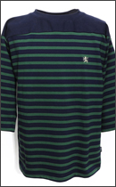 RULER - REBELLION BORDER FOOTBALL SHIRTS -Navy/Green-