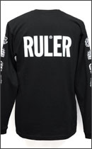 RULER - LONG TEE -Black-