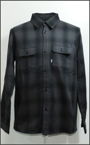 RULER - FLANNEL SHIRTS -Charcoal/Black-