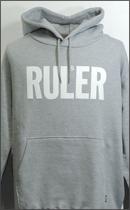 RULER - ICON SWEAT HOODIE -H.Grey-
