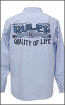 RULER - P.E.A. CHAMBRAY SHIRTS -Sax-