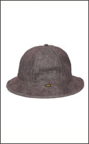 CALEE - DENIM METRO HAT -Brown-