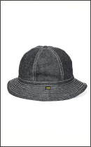 CALEE - DENIM METRO HAT -Black-