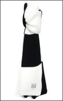 INTERFACE - BORDER MUFFLER -Black×White-