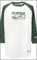 PRILLMAL - Super Chillin !!! RAGLAN T- SHIRTS -White/Green-