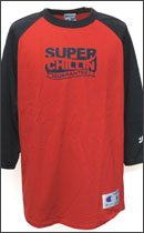 PRILLMAL - Super Chillin !!! RAGLAN T- SHIRTS -Red/Black-