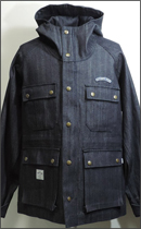 SEVENTY FOUR - HOODED DENIM JACKET -Indigo-