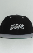 SEVENTY FOUR - BASE BALL CAP (SCRIPT LOGO) -Black/Grey-
