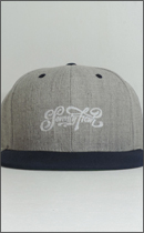 SEVENTY FOUR - BASE BALL CAP (SCRIPT LOGO) -Grey/Navy-