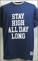 SEVENTY FOUR - STAY HIGH T SHIRT -Navy-