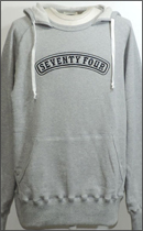 SEVENTY FOUR - PULLOVER HOODED SWEAT - H.Grey -