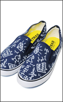 MAD.TK. - DISKAH HAND DRAWING SHOES RAH exclusive -Navy/White-