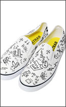 MAD.TK. - DISKAH HAND DRAWING SHOES RAH exclusive -White/Black-