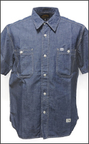 SEVENTY FOUR - CHAMBRAY SHIRT S/S -Indigo-
