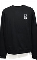 REBEL8 - EMBROIDERED LOGO CREWNECK -Black-