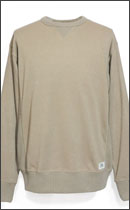 SEVENTY FOUR - SIDE RIB CREW NECK KNIT -Khaki-