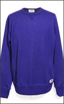 SEVENTY FOUR - SIDE RIB CREW NECK KNIT -Navy-