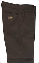 CALEE - T/C TWILL CHINO PANTS -Brown-
