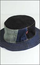 tokyo gimmicks - DENIM BANDANA REVERSIBLE BUCKET HAT