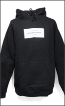 The Seventh Letter - WHITE LABEL PULLOVER HOOD -Black-