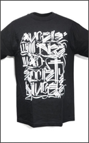 The Seventh Letter - Angels TEE -Black/White-