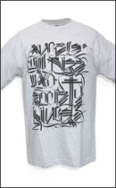 The Seventh Letter - Angels TEE -Heather/Black-