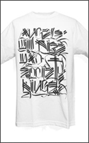 The Seventh Letter - Angels TEE -White/Black-