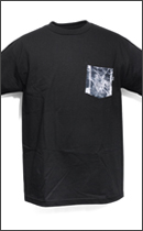 The Seventh Letter - WAR OF WORDS POCKET TEE -Black-