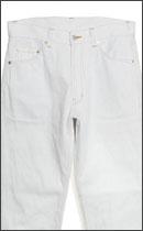 SEVENTY FOUR - WASHED TYPE 1 DENIM PANT -White-