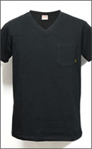 CALEE - POCKET V-NECK T-SHIRT -Black-