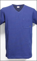 CALEE - POCKET V-NECK T-SHIRT -Navy-