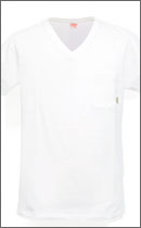 CALEE - POCKET V-NECK T-SHIRT -White-