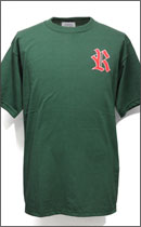 RAH - WAPPEN TEE S/S -Forest Green/Red-