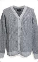 BRIXTON - WINSTON CARDIGAN -Grey/Black-